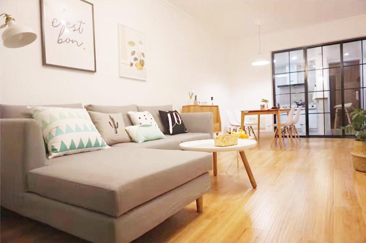 89m²两室二厅:我就爱北欧性冷淡调调 案例 第1张